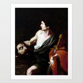Pietro Novelli David with the Head of Goliath Art Print
