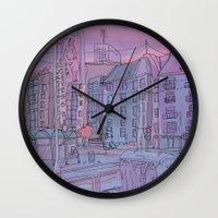 budapest Wall Clocks featuring Budapest through pencil by Zsolt Vidak