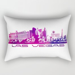 Las Vegas skyline purple Rectangular Pillow