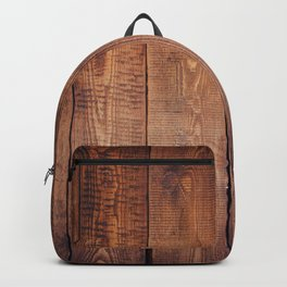 Rustic Wooden Plank Texture Backpack