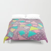 candy Duvet Covers featuring Candy by Louise Machado