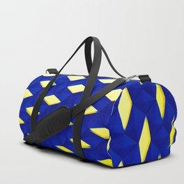Trapez 2/5 Blue & Yellow by Brian Vegas Duffle Bag