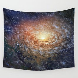 Galactic Sunflower Wall Tapestry