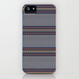 Memphis Style Geometric Stripes Seamless Vector Pattern iPhone Case