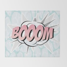 Water comics pastel boom Throw Blanket