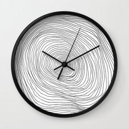 Spiral Rings Wall Clock