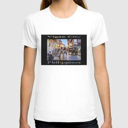 Rush Hour in Vigan City (on black) T-shirt