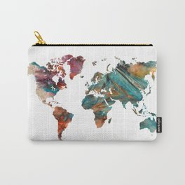 Map of the World triangle Carry-All Pouch