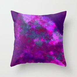 """Cellular Migration"" (Pink/Purple/Green) Digital Painting // Fine Art Print Throw Pillow"