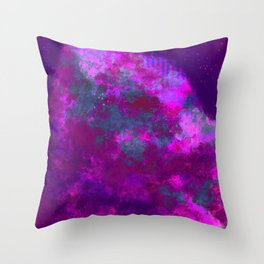 """Cellular Migration"" (Pink/Purple/Green) Digital Painting // Fine Art Print Throw Pillow"