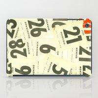 calendar iPad Cases featuring CLOSEUPS - Calendar Sheets by Cordula Kerlikowski