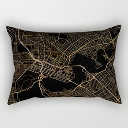 Black and gold Perth map Rectangular Pillow