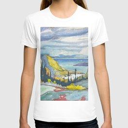 Canadian Landscape Watercolor Painting Franklin Carmichael Art Nouveau T-shirt