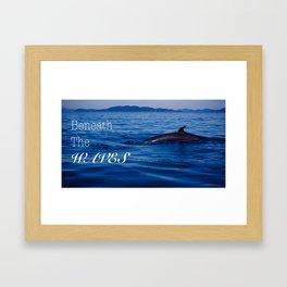 Beneath The Waves Framed Art Print