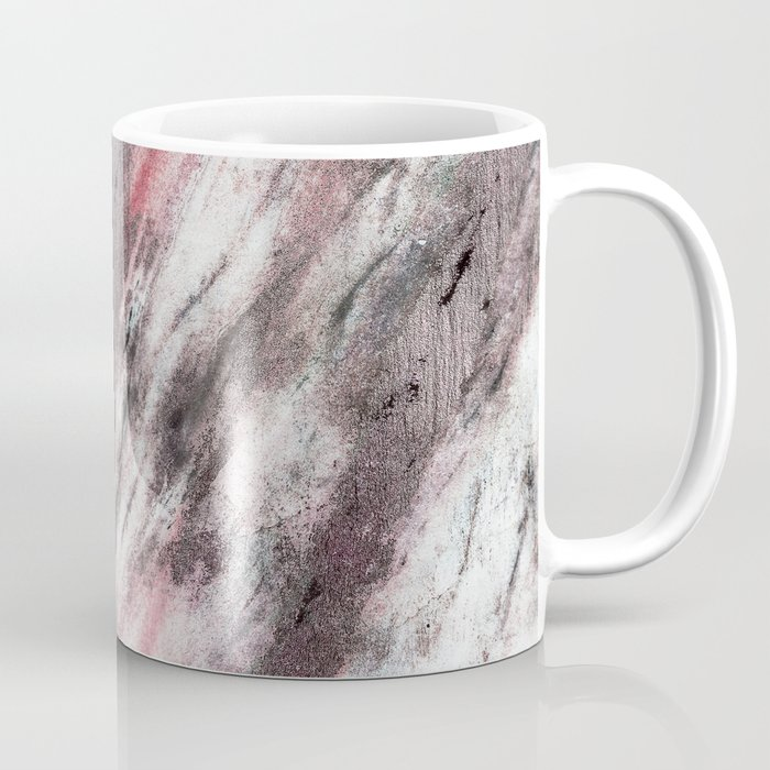 Real marble with pink, coral and copper colors and textures Coffee Mug