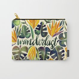 Tropical Wanderlust – Orange & Emerald Carry-All Pouch