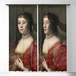 Gerard van Honthorst - Portret van Amalia van Solms (1602-1675) Blackout Curtain