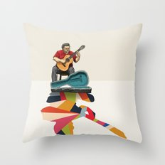Walking Shadow, Guitarist Throw Pillow