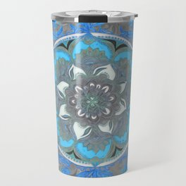 Mint Green, Blue & Aqua Super Boho Medallions Travel Mug
