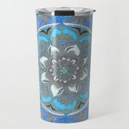 Mint Green, Blue & Aqua Super Boho Medallions Travel Mug
