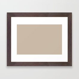 Sherwin Williams Trending Colors of 2019 Dhurrie Beige SW 7524 Solid Color Framed Art Print