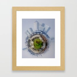 Canary Wharf Around Greenwich Framed Art Print