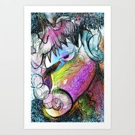 To Myself Art Print