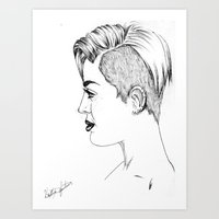 miley cyrus Art Prints featuring Miley Cyrus by Kfort