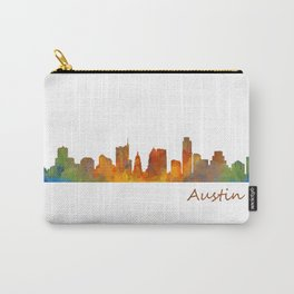 Austin Texas, City Skyline, watercolor  Cityscape Hq v1 Carry-All Pouch