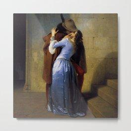 'The Kiss' at Pinacoteca di Brera by Francesco Hayez Metal Print