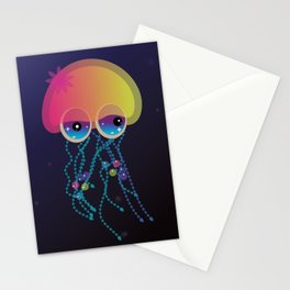 cute Jellyfish baby girl Stationery Cards