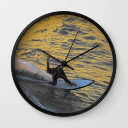 California Gold Wall Clock