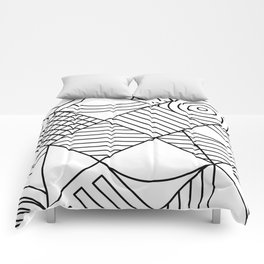 Whackadoodle White and black Comforters