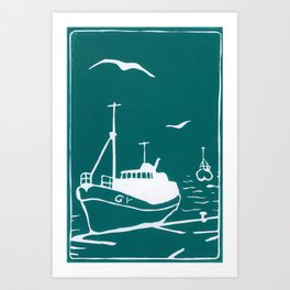 Comrades in Turquoise Art Print