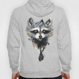 Raccoon stealing seeds! Hoody