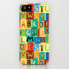 Papercut Alphabet iPhone Case