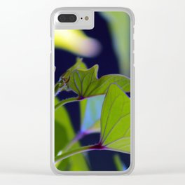 Beautiful Greenery Clear iPhone Case