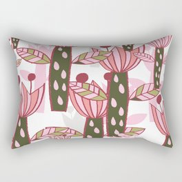 flower pink contemporary kids nursery Rectangular Pillow