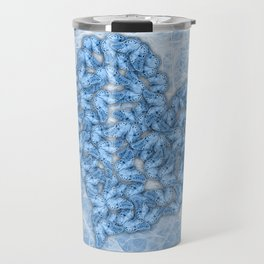 Butterflies gathering for romance in blue Travel Mug