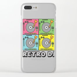 Retro Vinyl DJ Gift Music Djane Old school deejay Clear iPhone Case