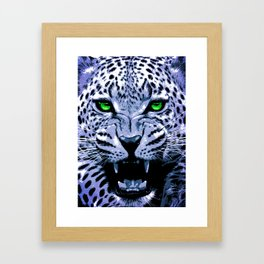 Look into my green eyes Framed Art Print