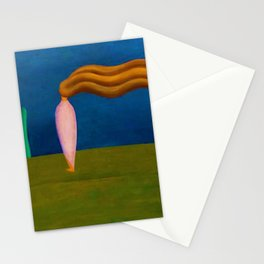 Lonely Female Figure by Tarsila do Amaral Stationery Cards