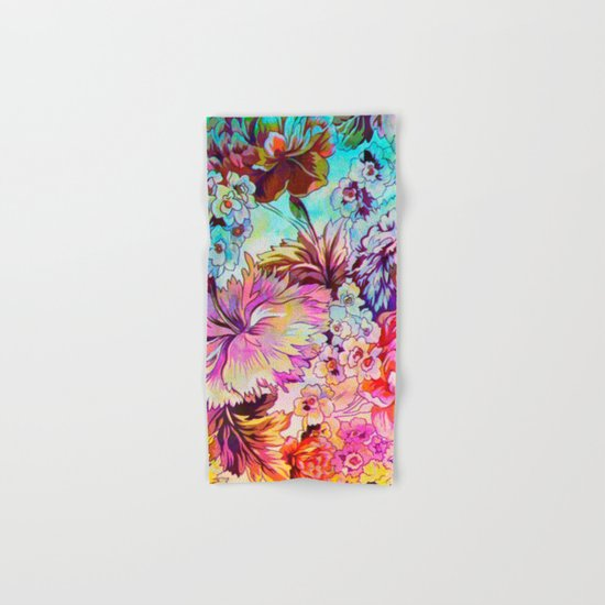 bright bouquet Hand & Bath Towel