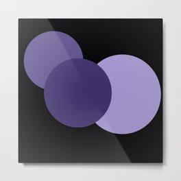 Mod Circles Ultra Violet Purple Metal Print