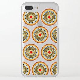 Mandala warm colour pallette Clear iPhone Case