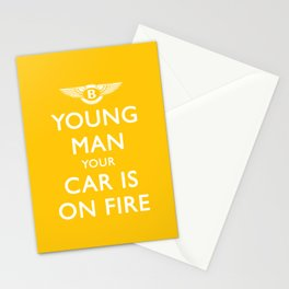 Your Car Is On Fire Stationery Cards