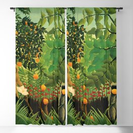 "Henri Rousseau ""Monkeys in the jungle - Exotic landscape"" Blackout Curtain"