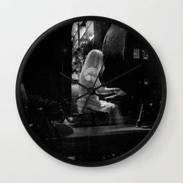 Woman Playing a Piano, A Wall Clock