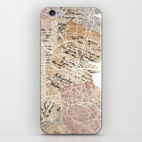 dublin iPhone & iPod Skins featuring Dublin by Mapsland