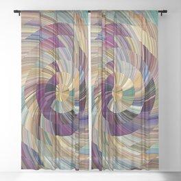 Spiralus Pastelus Sheer Curtain